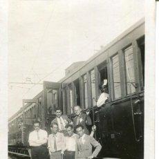 Postales: FERROCARRIL-TREN BLANCO-ESTACIÓN DE LOURDES PARA SALIR HACIA ESPAÑA-AÑO 1928-MUY RARA. Lote 264449819