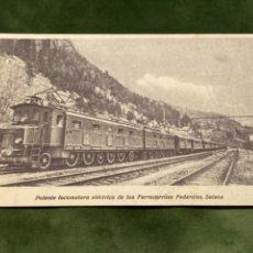 Postales: ANTIGUA POSTAL LOCOMOTORA FERROCARRILES FEDERALES SUIZOS. Lote 265383189
