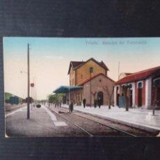 Postales: TAFALLA.ESTACION DEL FERROCARRIL.. Lote 269650858