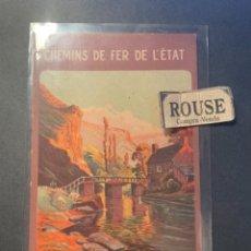 Postales: ANTIGUA POSTAL CHEMINS DE FER DE L'ÉTAT EXCURSIONS EN BRETAGNE 14X9 CM. Lote 270877613