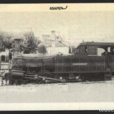 Postales: POSTAL TREN - LOCOMOTORA N.º 2 DE VAPOR - LA VILLALONGA-ALCOY-GANDIA - N.º 17 - ASAFER. Lote 295286233