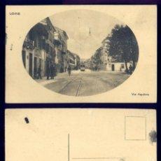 Postales: 1163 - ITALIA UDINE VIA AQUILEIA / PEOPLE TRAMWAY PERSONAS TRANVÍA - POSTAL 1920'. Lote 277167693