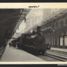 Postales: POSTAL TREN - ANDÉN DEL APEADERO - BARCELONA - PASEO DE GRACIA - N.º 19 - ASAFER. Lote 295287113