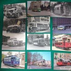 Postales: 12 POSTALES DE TRANVIAS DE BARCELONA.. Lote 279507733