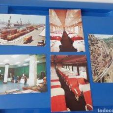 Postales: POSTALES DE LA RENFE AÑO 1974. Lote 279587698