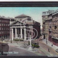 Postales: ITALIA, TRIESTE - PLAZA DE LA BOLSA (TRANVÍA) 1962. Lote 288062073