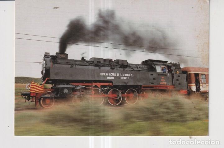 POSTAL DE TRENES LOCOMOTORA Nº 3 ASOCIACION AMIGOS DE ZARAGOZA SIN CIRCULAR (Postales - Postales Temáticas - Trenes y Tranvías)