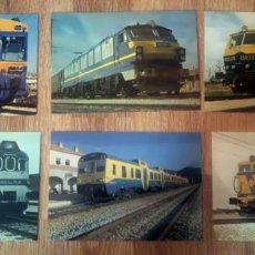 Postales: POSTALES. RENFE, LOTE DE MÁQUINAS, LOCOMOTORAS, TRENES. COLECCIÓN DE 1983. 6 DIFERENTES. Lote 292245538
