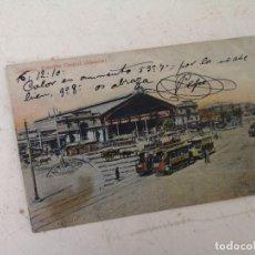 Postales: 1910, ANTIGUA POSTAL CON IMAGEN DE TRANVÍA Y ESTACIÓN, SANTIAGO, ESTACIÓN CENTRAL (ALAMEDA), CHILE. Lote 293202088