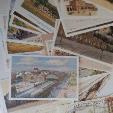 Postales: 47 POSTALES ALEMANAS REEDITADAS SOBRE TEMA FERROVIARIO - ESTACIONES DE TREN... / SERIES I, III, IV... Lote 293255028