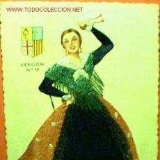Postales: TRAJE TRADICIONAL DE ARAGÓN TEJIDO CON HILO. Lote 16520598