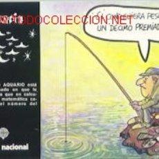 Postales: POSTAL DE ACUARIO (LOTERÍA NACIONAL). Lote 671601