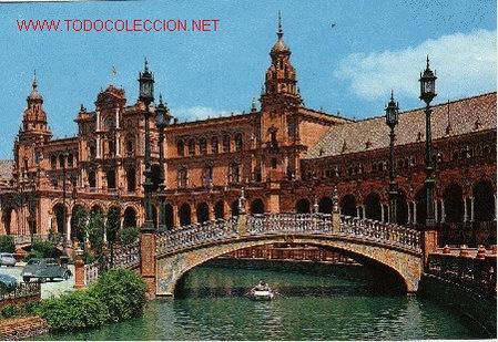postal plaza de espaa sevilla postales espaa andalucia moderna desde