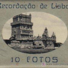 Postales: ALBUM RECUERDO DE LISBOA (PORTUGAL) DE 10 FOTOGRAFIAS ARTISTICAS EN MINIATURA (6,8 X 9 CMS.).-. Lote 12842923