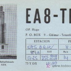 Postales: TARJETA QSL RADIOAFICIONADO 1980 - TENERIFE (ISLAS CANARIAS). Lote 6105809