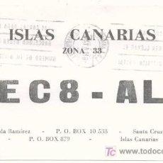 Postales: TARJETA QSL RADIOAFICIONADO 1980 - TENERIFE (ISLAS CANARIAS). Lote 6106518