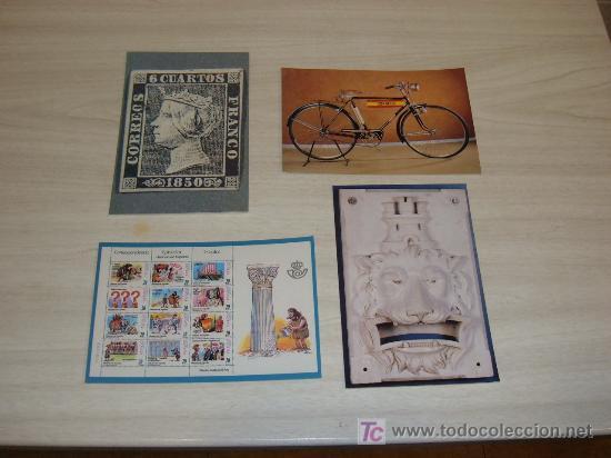 LOTE 4 POSTALES MUSEO DEL CORREO (Postales - Varios)