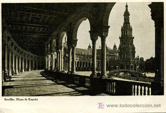 SEVILLA PLAZA DE ESPAÑA - DORSO PUBLICIDAD LABORATORIO SANAVIDA, S.A. (Postales - Varios)