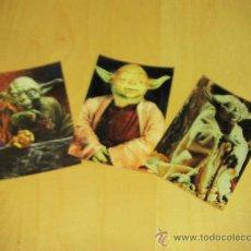 Postales: LOTE DE 3 FOTOS DE YODA (LA GUERRA DE LAS GALAXIAS) + REGALO DE POSTAL EPISODIO I - . Lote 8403996
