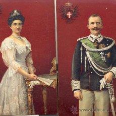 Postales: LOS REYES DE ITALIA. DOS POSTALES COLOR, C. 1915. IMPRESAS EN ALEMANIA, EXCELENTE CALIDAD. REAL. Lote 25895116