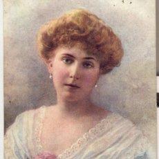 Postales: PRINCESS ENA OF BATTENBERG. POSTAL INGLESA COLOR, SOBRE RETRATO, C. 1910. REAL. Lote 23349938