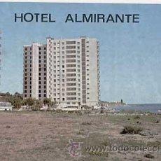 Postales: MALAGA. HOTEL ALMIRANTE, COSTA DEL SOL. ED. GERICOLOR. ESCRITA. Lote 11166673
