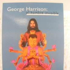 Postales: BEATLES . POSTAL PROMOCIONAL LANZAMIENTO LIBRO GEORGE HARRISON: EL HOMBRE INVISIBLE. Lote 35654379