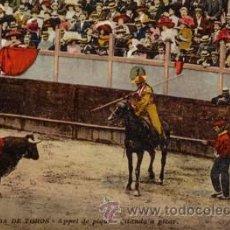 Postales: Nº 3081 POSTAL CORRIDA DE TOROS CITANDO A PICAR. Lote 26425407