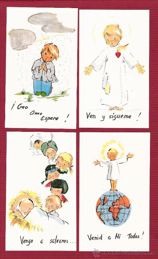 Magnífica Tarjeta Religiosa Para Niños Angele Kaufen Andere Alte