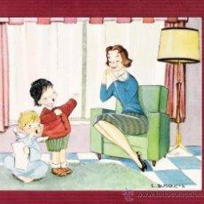 Cartes Postales: MAGNÍFICO DÍPTICO NAVIDAD - NIÑOS - ÁNGELES - ILUSTRADO POR C. BUSQUETS. Lote 12550831