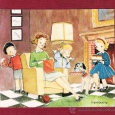 Cartes Postales: MAGNÍFICO DÍPTICO NAVIDAD - NIÑOS - ÁNGELES - ILUSTRADO POR C. BUSQUETS. Lote 12550854