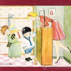 Cartes Postales: MAGNÍFICO DÍPTICO NAVIDAD - NIÑOS - ÁNGELES - ILUSTRADO POR C. BUSQUETS. Lote 12550882