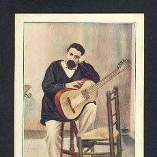 Postales: POSTAL CATALANISTA: JOSEP ANSELM CLAVE (D'UN RETRAT DEL 1854). GUITARRA. Lote 13272629