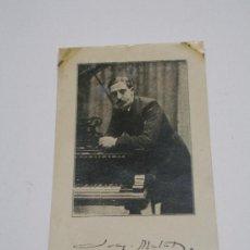 Cartoline: POSTAL COMPOSITOR Y PIANISTA JOAQUÍN MALATS . SIN CIRCULAR . Lote 15088711