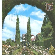 Postales: POSTAL DE GRANADA - CIRCULADA Y FECHADA , PERO FALTA SELLO. Lote 15252679