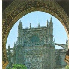 Postales: POSTAL DE SEVILLA - CATEDRAL , PUERTA DEL PERDON . Lote 15348609