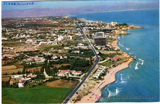 Preciosa postal torremolinos malaga vista comprar postales de andaluc a en todocoleccion - Fotografia aerea malaga ...