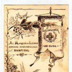 Postales: DIBUJO 12,50 X 10 CM. AL MARQUES DE LIEDENA. COMISARIO INTERVENTOR. GUERRA DE CUBA. ORIGINAL.. Lote 23385879