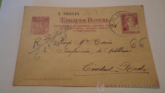 TARJETA POSTAL, REPÚBLICA, 11-02-1938, CIRCULADA (Postales - Varios)