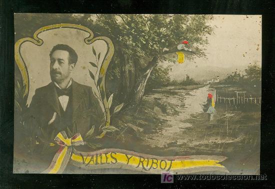 TARJETA POSTAL DE VALLES Y RIBOT. 1ª REPUBLICA. (Postales - Varios)