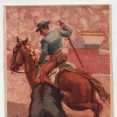 Postales: REJONEO A CABALLO.. Lote 18975509
