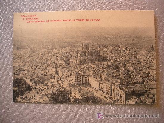 ANTIGUA POSTAL DE GRANADA (Postales - Varios)