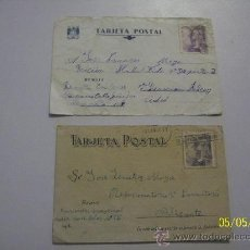 Postales: TAJETA POSTAL ( DOS) CIRCULADAS Y USADAS.- 1945. Lote 23115511