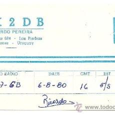 Postales: URUGUAY: TARJETA POSTAL DE RADIO AFICIONADO. Lote 23127309