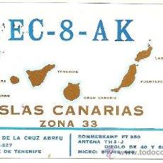 Postales: TARJETA POSTAL DE RADIO AFICIONADO: TENERIFE. Lote 23127553