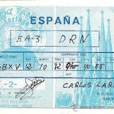 Postales: TARJETA POSTAL DE RADIO AFICIONADO: BARCELONA. Lote 23127721