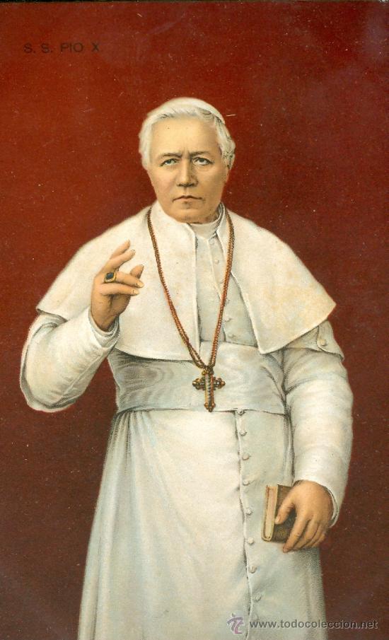 PAPA PIO X. POSTAL COLOR ALEMANA, C. 1915 (Postales - Varios)