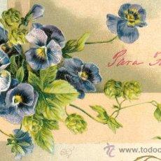 Postales: POSTAL ALEMANA. VIOLETAS. RELIEVE. C. 1910. Lote 23849096
