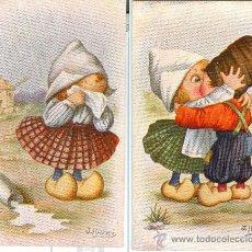 Postales: NIÑOS HOLANDESES. 2 POSTALES COLOR, DIBUJADAS POR J. IBAÑEZ, AÑOS 30-40 (?).. Lote 24062192
