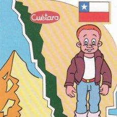 Postales: CHILE, EDITADA POR EL COMITÉ DE 5º CENTENARIO DEL DESCUBRIMIENTO D AMERICA Y TVE, REGALO DE CUETARA. Lote 24501083